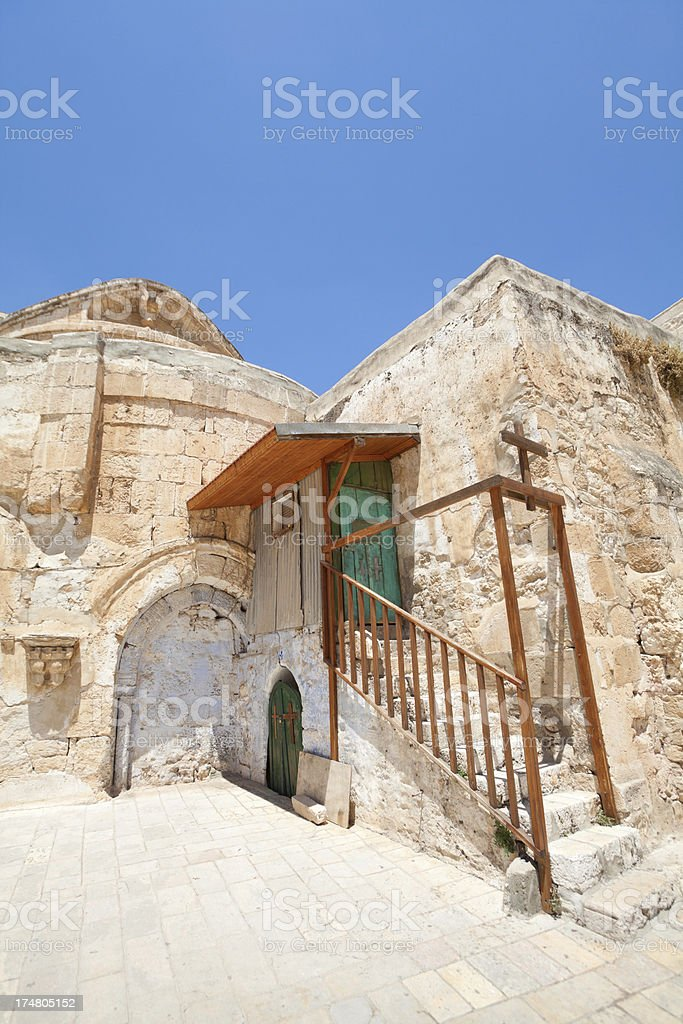 Church of the Holy Sepulchre in Jerusalem, Israel royalty-free stock photo