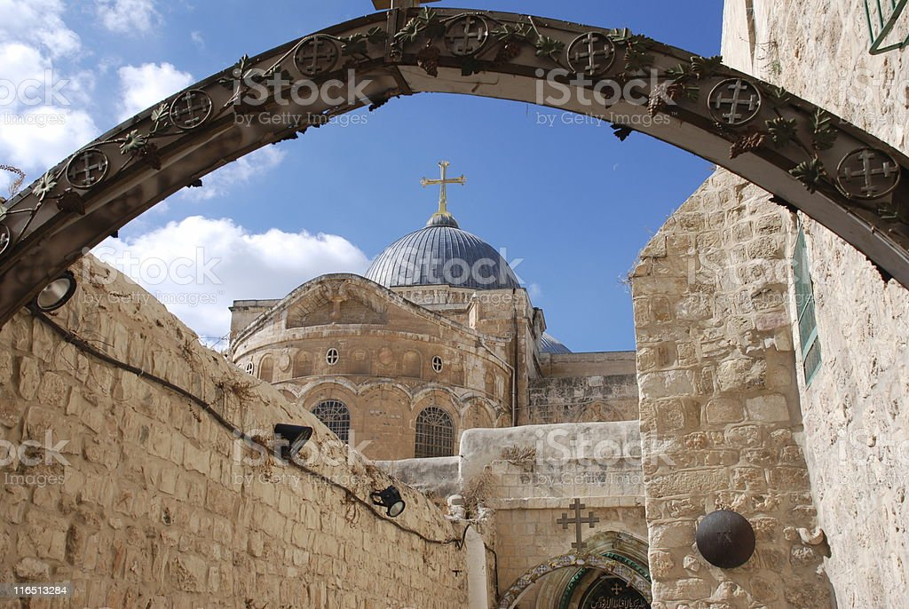 Church of the Holy Sepulchre in Jerusalem stock photo