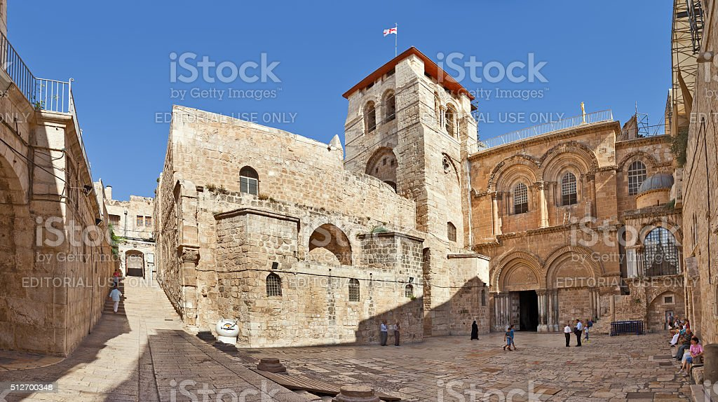 Church of the Holy Sepulchre in Jerusalem. stock photo