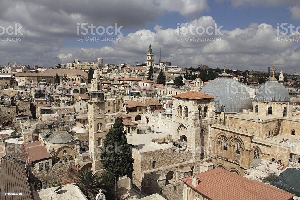 Church Of The Holy Sepulchre, Jerusalem royalty-free stock photo