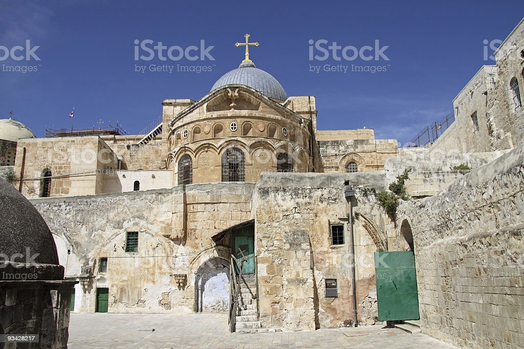 Church of the Holy Sepulchre. Jerusalem stock photo