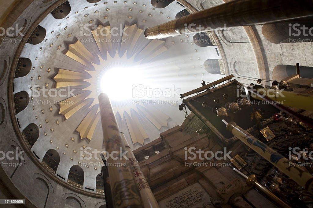 Church of the Holy Sepulchre - Rotunda stock photo
