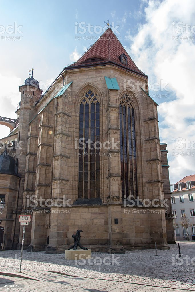 Church of the Holy Spirit in Bayreuth, Germany, 2015 stock photo
