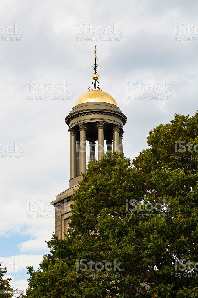 Church of the Presidents Steeple stock photo