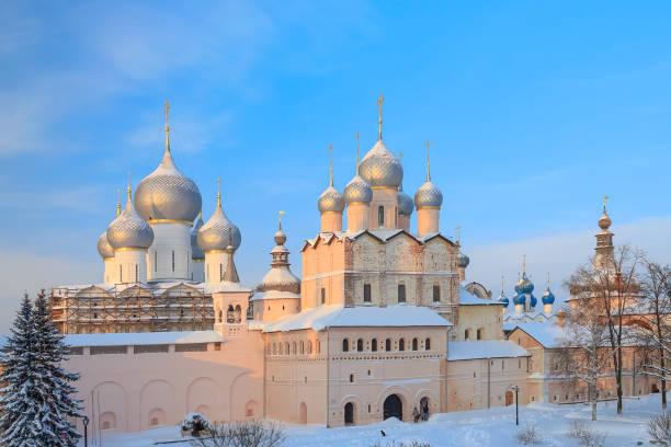 Church Of The Resurrection Rostov Kremlin stock photo