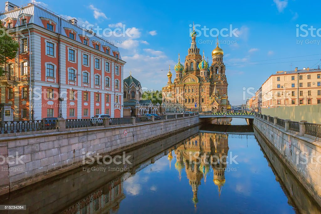 Church of the Resurrection (Savior on Spilled Blood). St. Petersburg stock photo