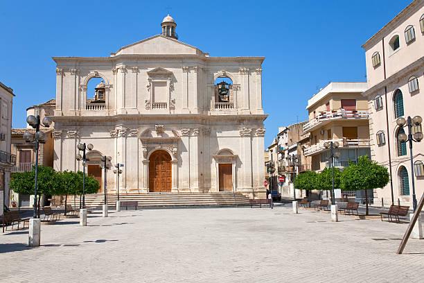 church of the santissimo crocifisso in noto - noto sicilië stockfoto's en -beelden
