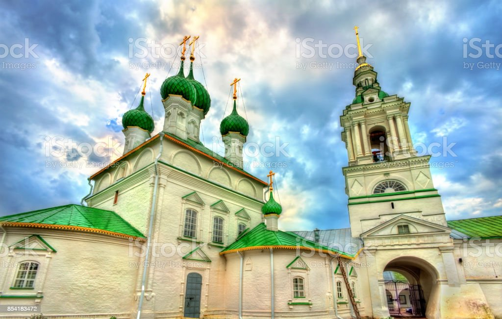 Church of the Savior at the trading arcades in Kostroma, Russia stock photo