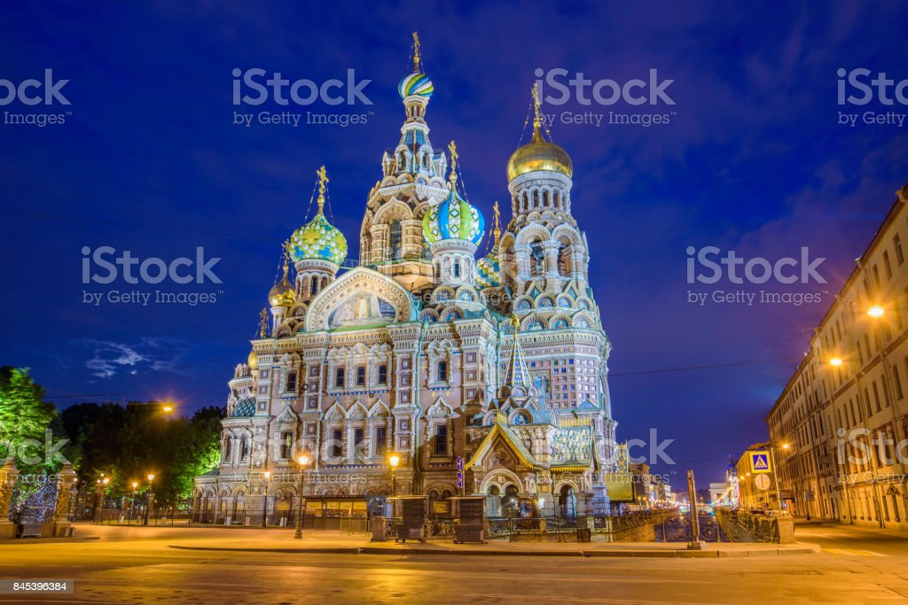 Church of the Savior on Spilled Blood in Saint Petersburg, Russia stock photo