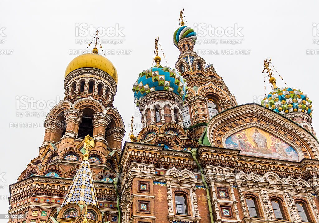 Church of the Savior on Spilled Blood (Cathedral of Resurrection). stock photo