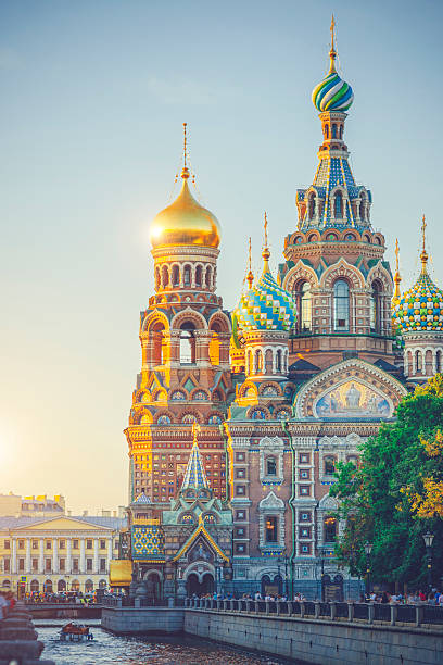 church of the savior on spilled blood - russia stock pictures, royalty-free photos & images