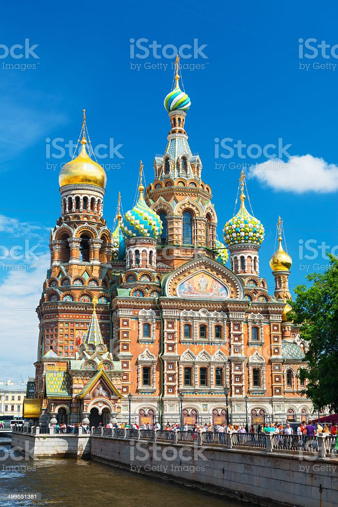 Church of the Savior on Spilled Blood, Saint Petersburg, Russia stock photo