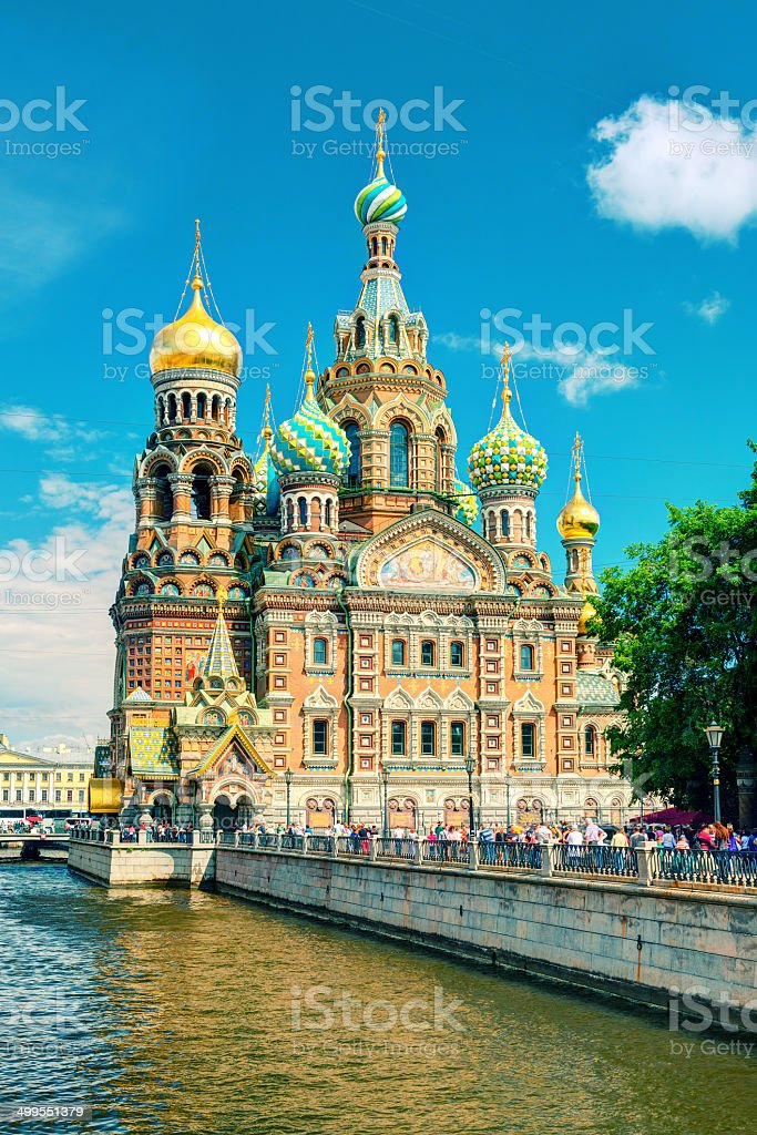Church of the Savior on Spilled Blood, St Petersburg, Russia stock photo