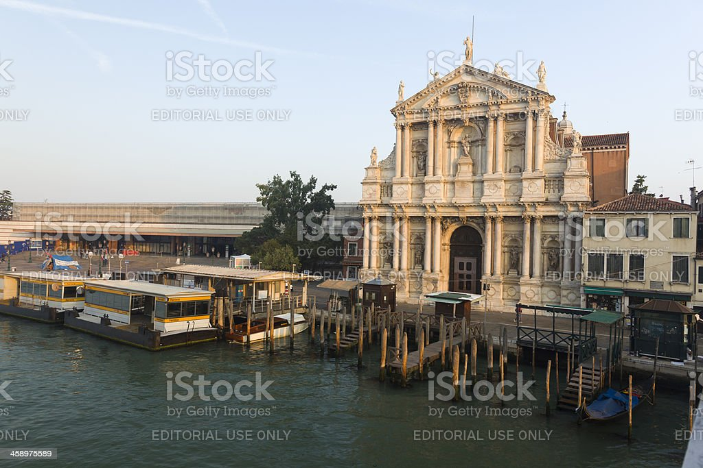 Church of the Scalzi, Venice, Italy royalty-free stock photo
