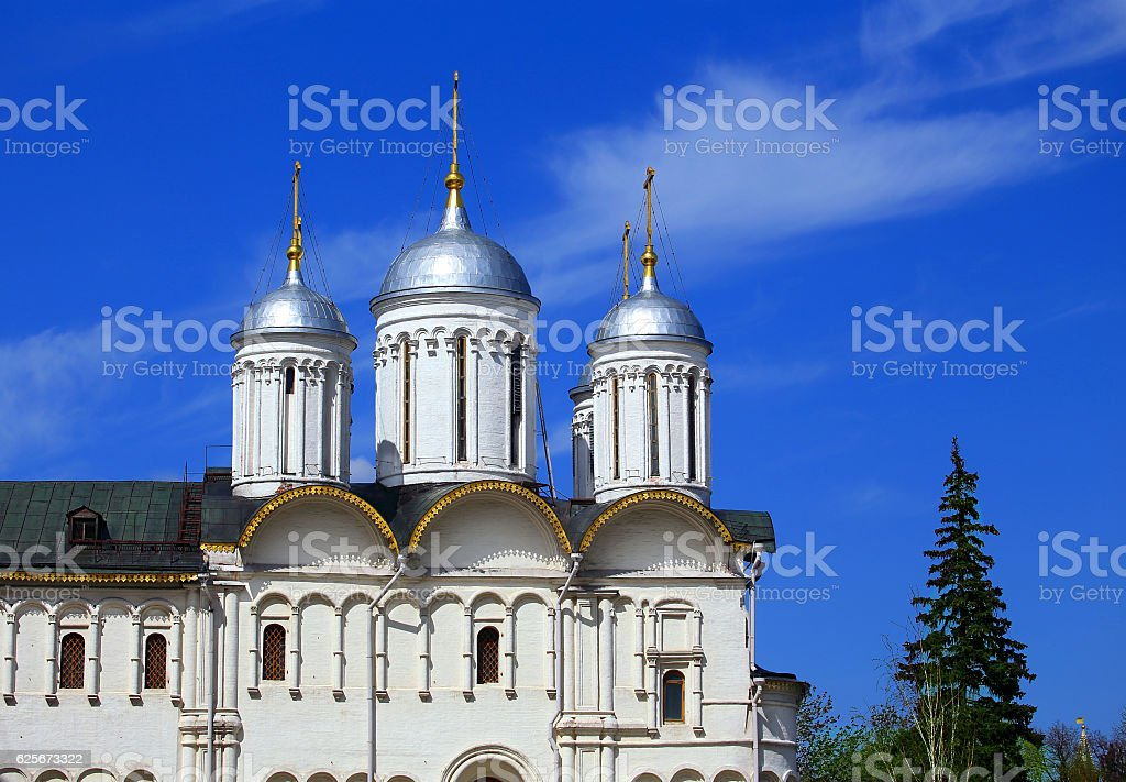 Church of the  seventeenth-century in Moscow Kremlin stock photo