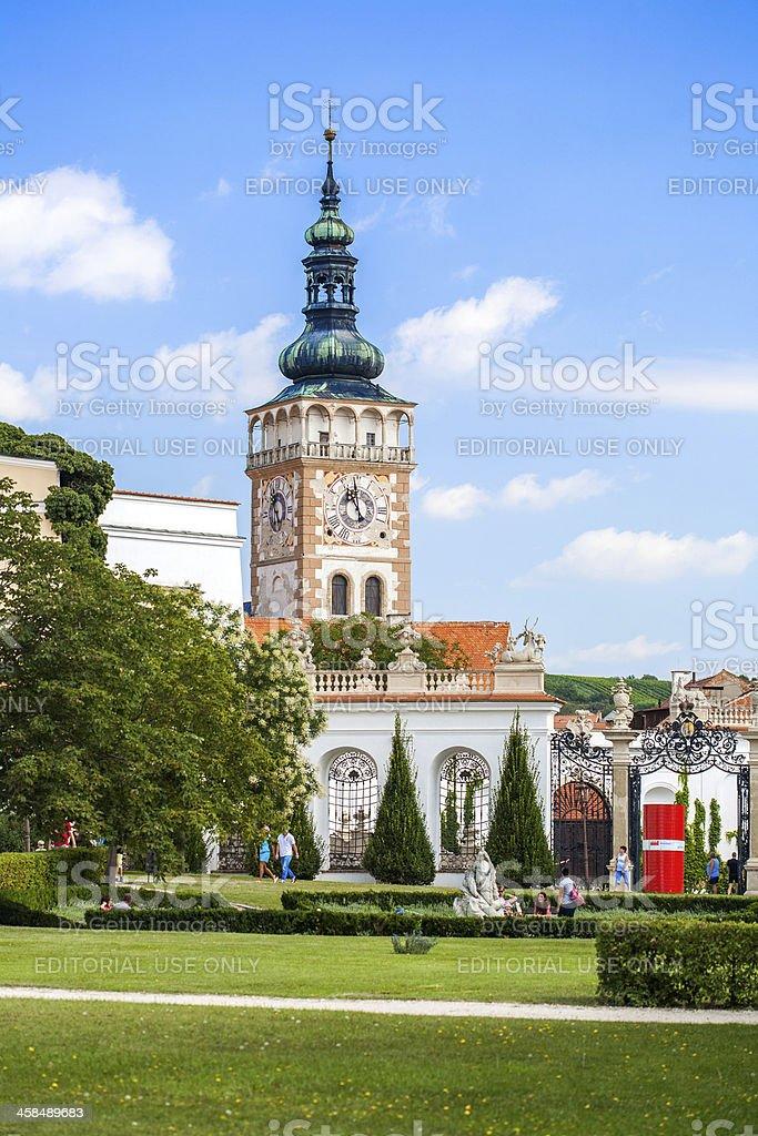 Church of the St. Wenceslas in Mikulov, Czech Republic. royalty-free stock photo