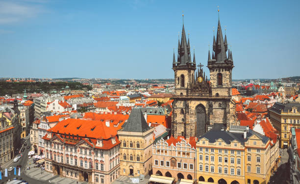 Church of the Virgin Mary in the Old Town, Prague Church of the Virgin Mary in the Old Town, Prague tyn church stock pictures, royalty-free photos & images