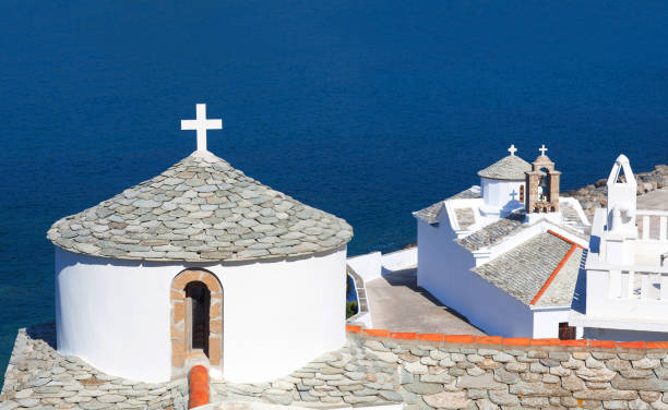 Church of the Virgin Mary on Skopelos, Northen Sporades, Greece stock photo