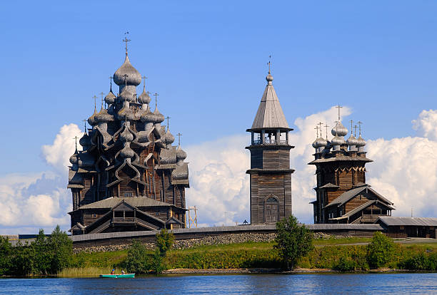 Church of Transfiguration & Intercession  republic of karelia russia stock pictures, royalty-free photos & images