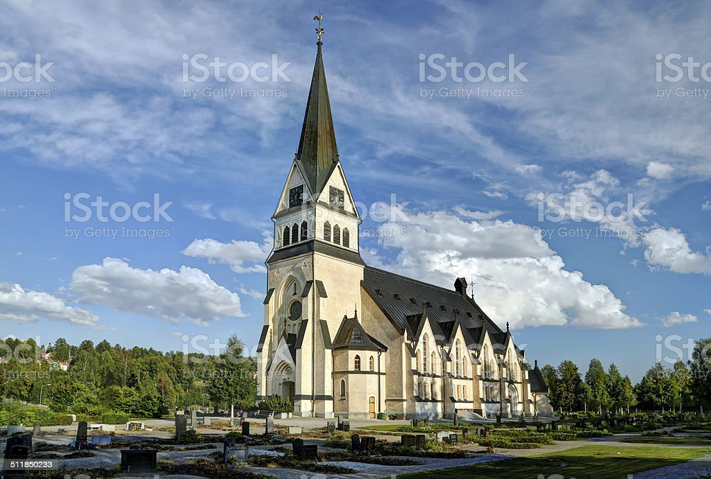 Church of Vindeln - Lapland, Sweden stock photo