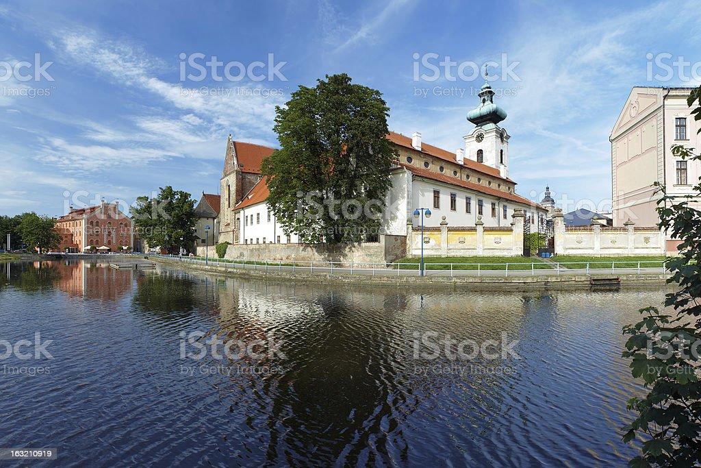 Church of Virgin Mary Presentation in Ceske Budejovice, Czech Republic stock photo