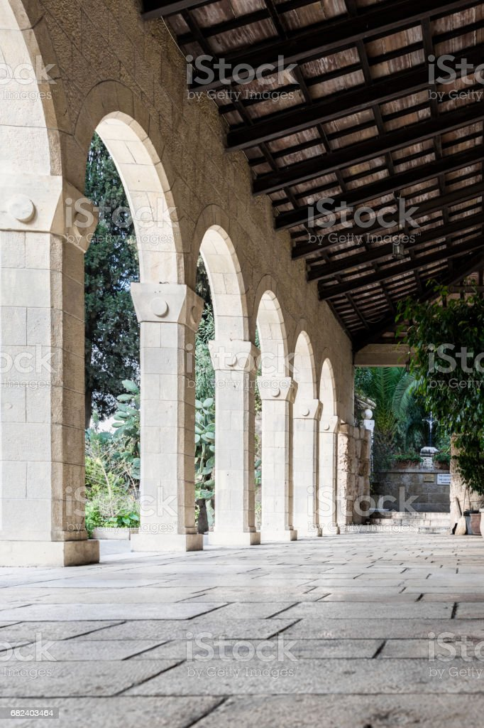 Church of visitation collonade royalty-free stock photo