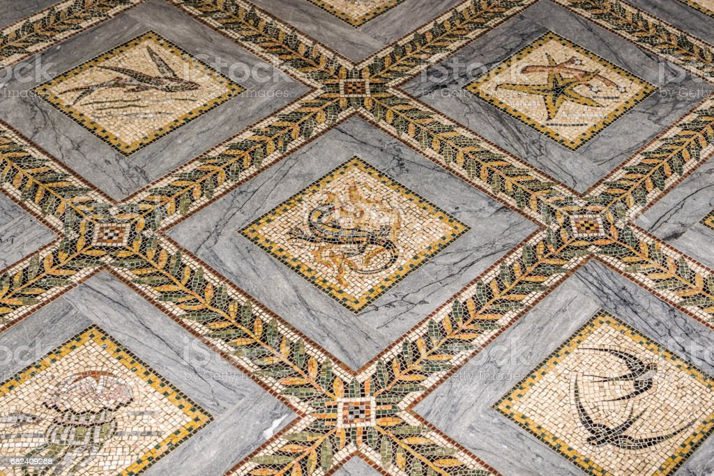 Church of visitation floor - mosaic royalty-free stock photo
