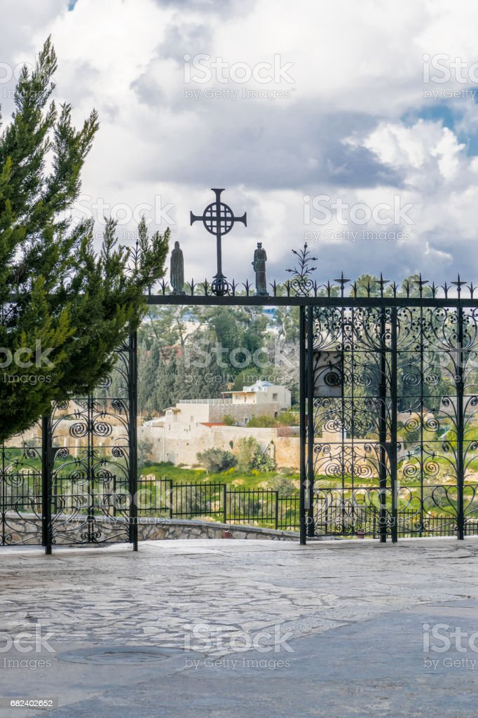 Church of visitation gate royalty-free stock photo