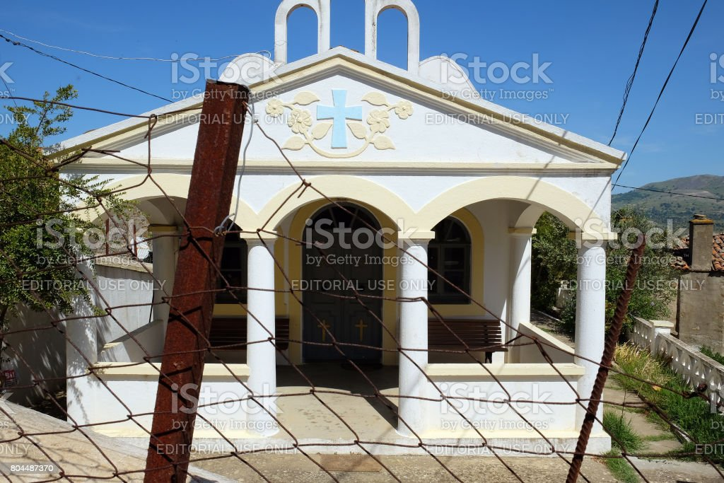 Church of Zeytinli Village stock photo