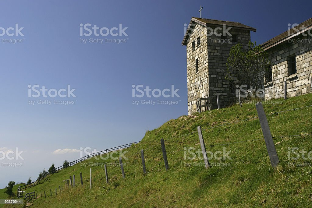 Church on a hilltop royalty-free stock photo