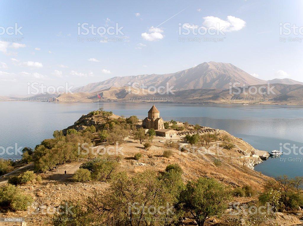 Church on Akdamar Island, Lake Van, Turkey stock photo