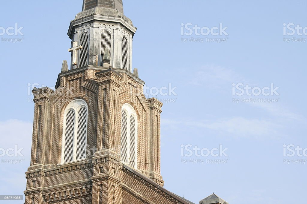 church on left royalty-free stock photo