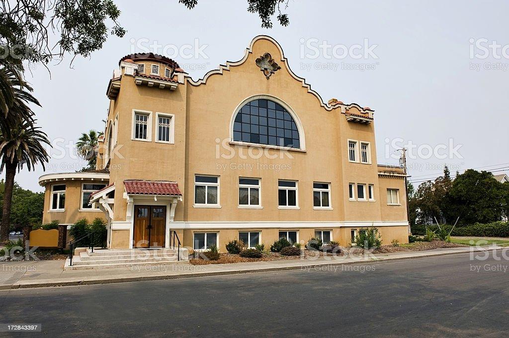 Church on Main Street royalty-free stock photo