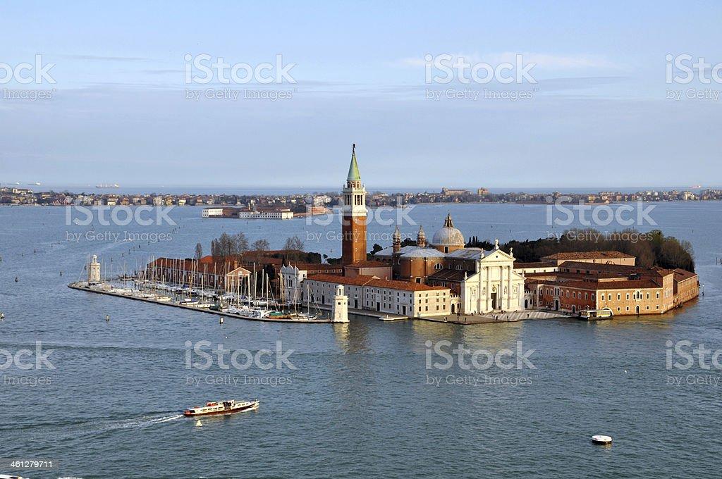 Church on San Giorgio Maggiore island royalty-free stock photo
