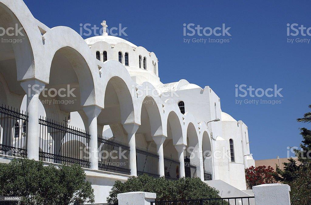 Church on Santorini royalty free stockfoto