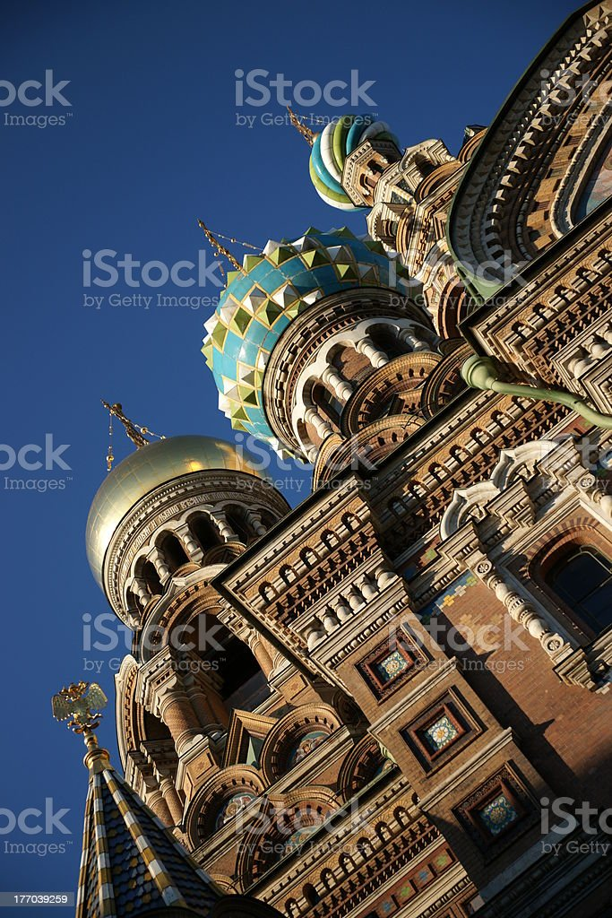 Church On Spilled Blood In The Sunlight royalty-free stock photo
