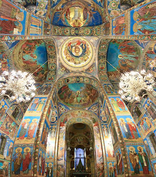 church on verschütteten blutes - russisch orthodoxe kirche stock-fotos und bilder