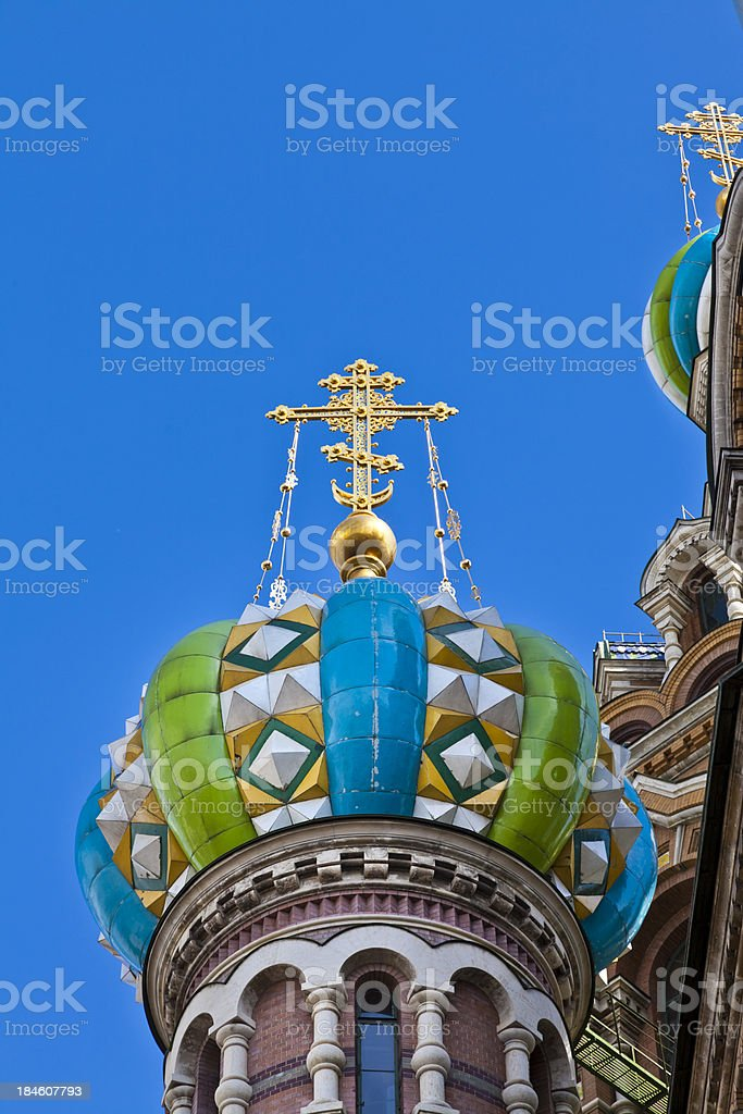 Church on Spilled Blood roof St Petersburg Russia Byzantine Architecture royalty-free stock photo