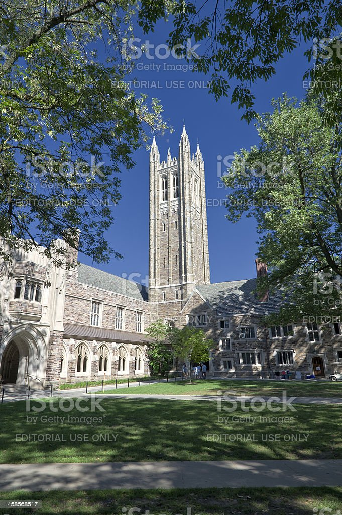 Church on the Campus of Princeton University stock photo
