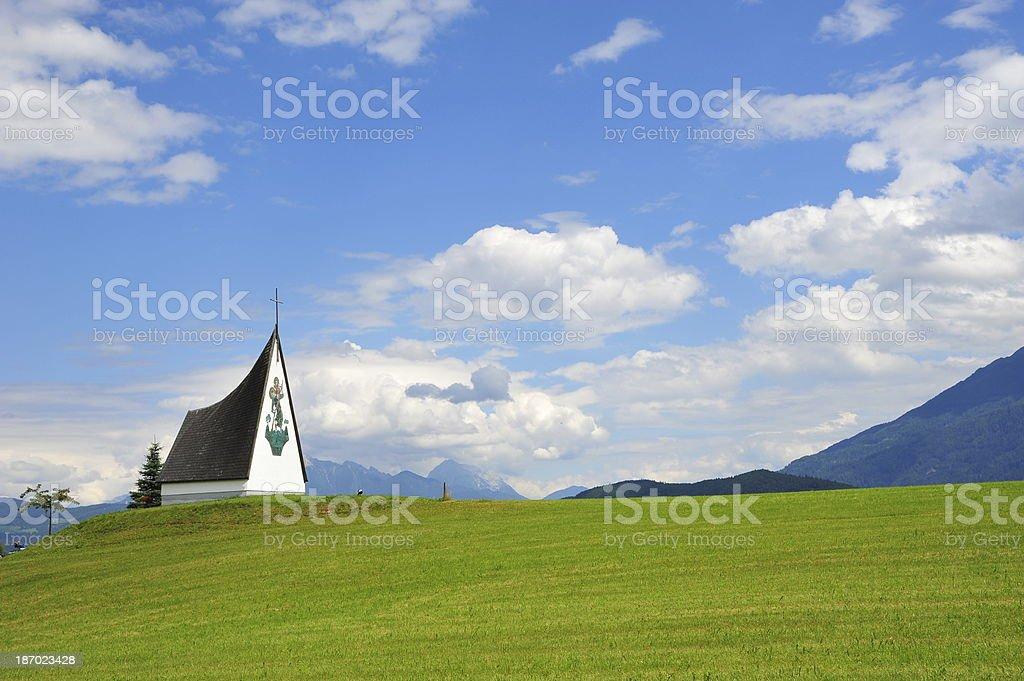 Church on the hill, Austria royalty-free stock photo