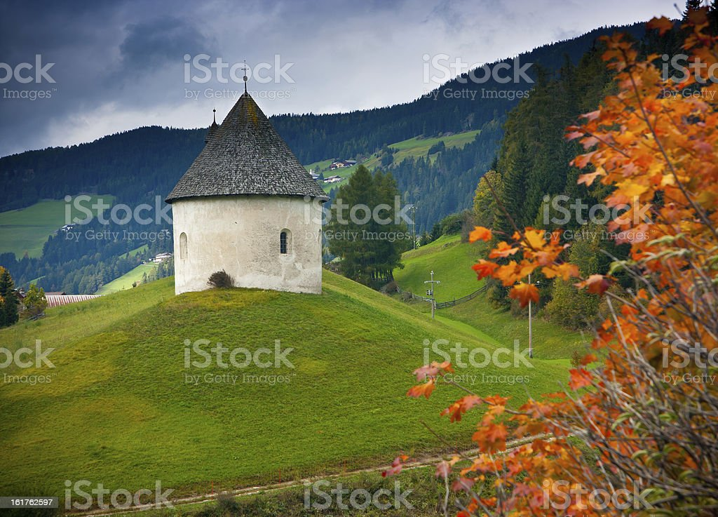 Church on the hill royalty-free stock photo