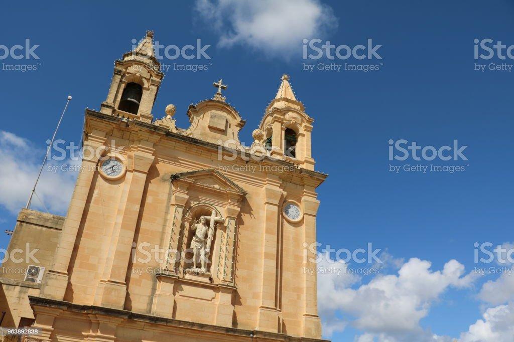 Church on the Island of Gozo Malta - Royalty-free Archipelago Stock Photo
