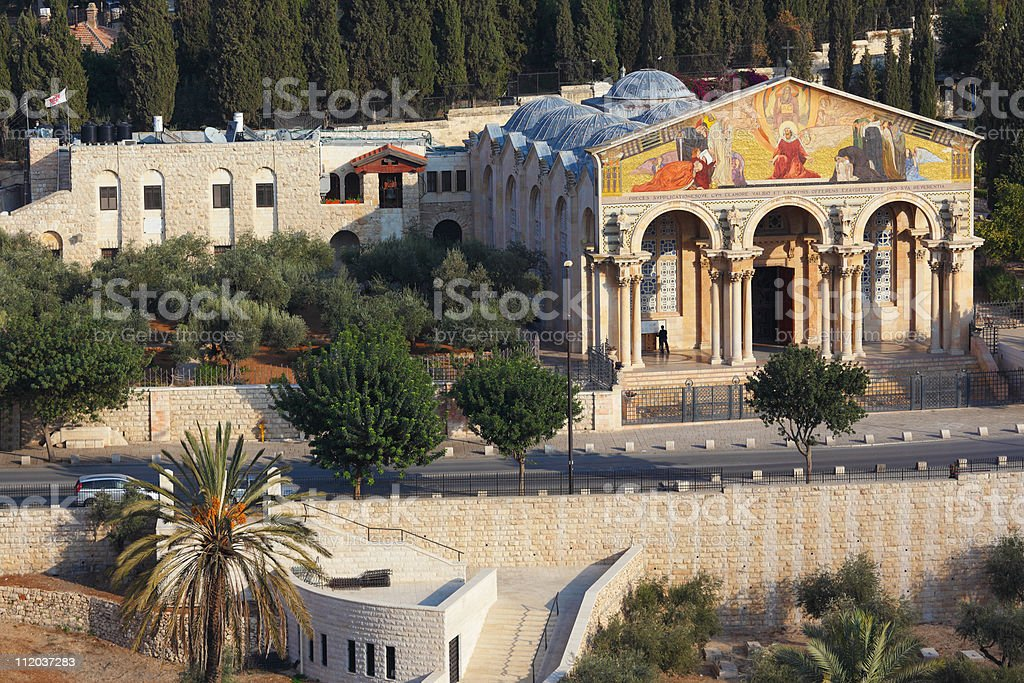 Church on the Mount of Olives royalty-free stock photo