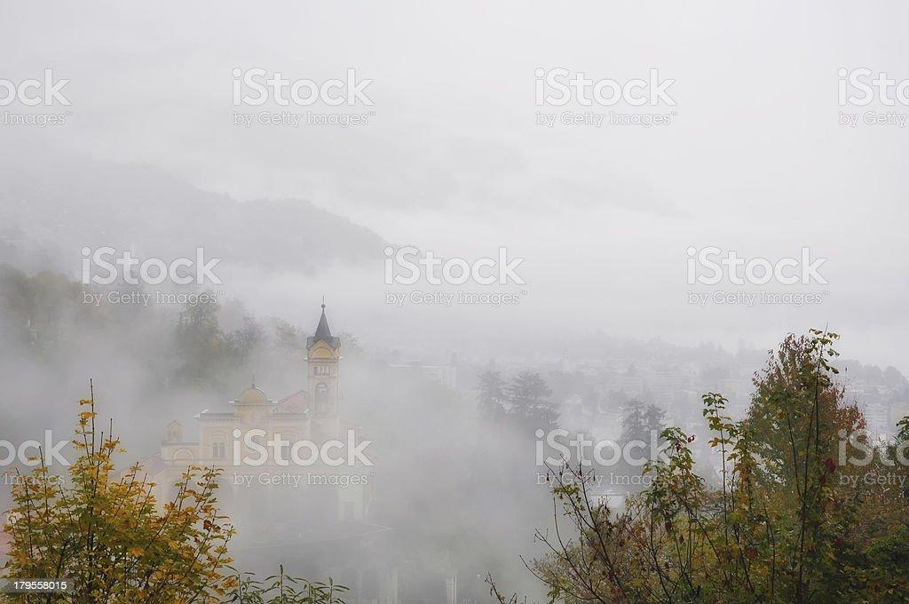Church on the mountain stock photo