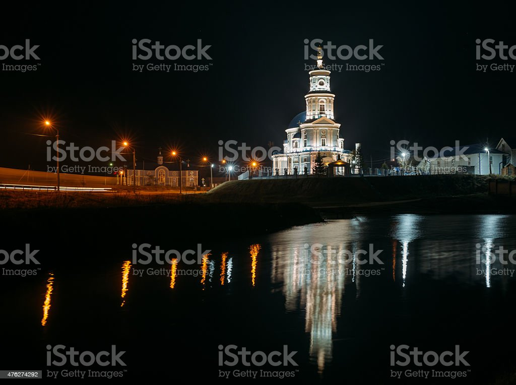 Church on the shore stock photo