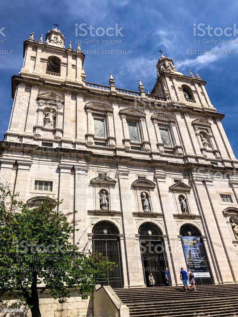 Church or Monastery of São Vicente de Fora, Lisbon, Portugal stock photo