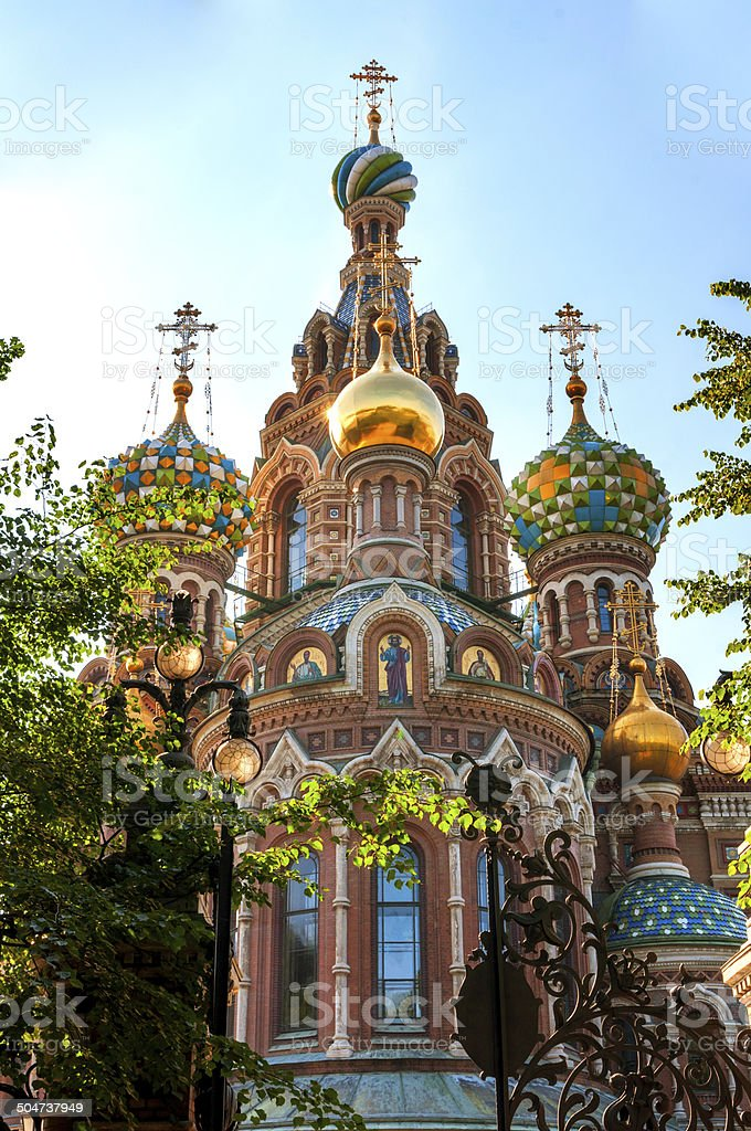 Church or the Saviour on Blode, St Petersburg, Russia stock photo