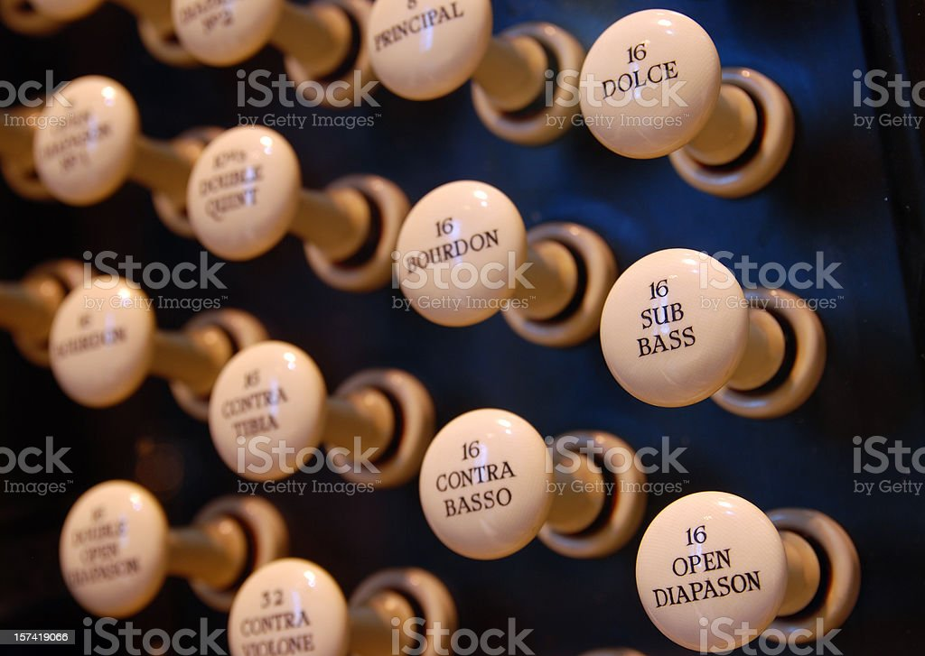 Church organ closeup royalty-free stock photo