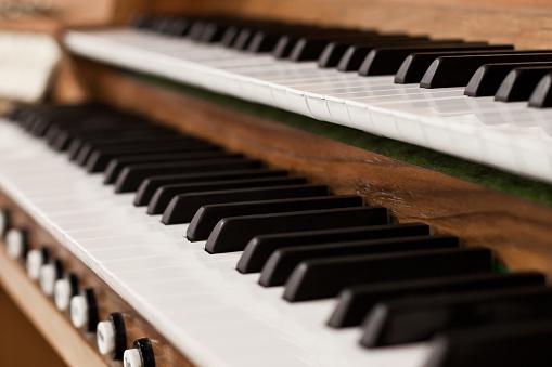 Church organ keyboard