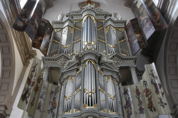 kerkorgel - westerkerk stockfoto's en -beelden